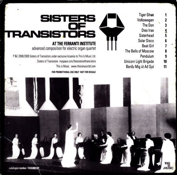 Sisters Of Transistors - At The Ferranti Institute - UK Promo CD - Back