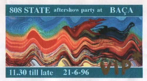808 State After Show Party at BACA - Manchester - 21st June 1996