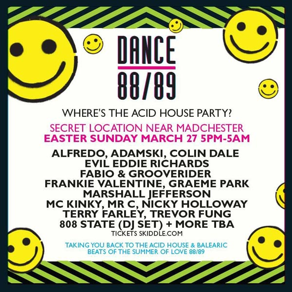 Dance 88/89 flyer 27 March 2016 808 DJ Andy