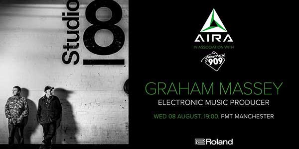 Flyer 08 Aug 2018 Graham Massey 808 Roland Day at PMT Manchester