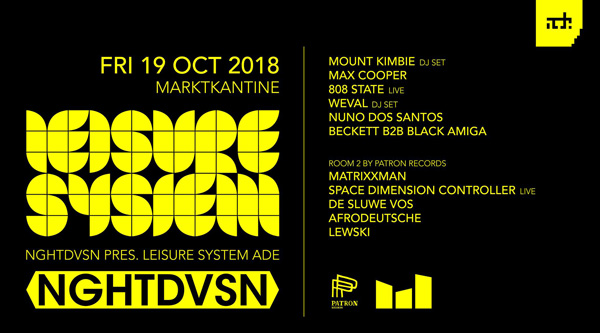 808 State live flyer 19 Oct 2018 Amsterdam Dance Event
