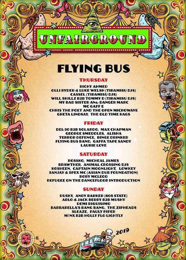 Flyer Andy Barker DJ at Glastonbury Festival 30 June 2019