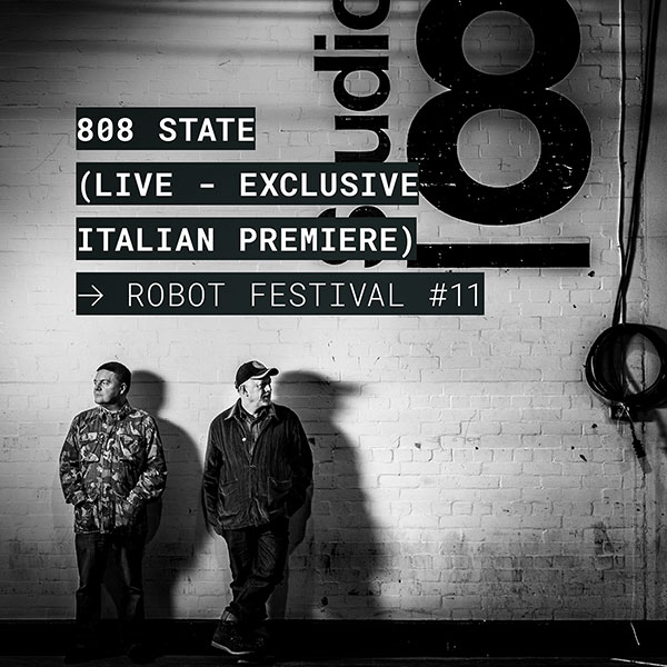 Flyer 808 State live 26 October 2019 Bologna