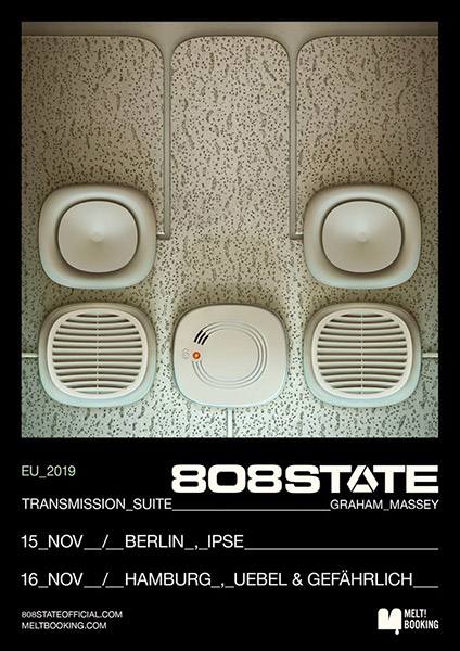 Flyer 808 State Live Hamburg 16 Nov 2019