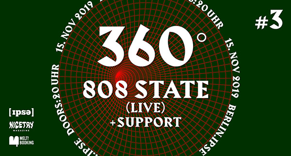 Flyer Berlin 808 State live 15 nov 2019