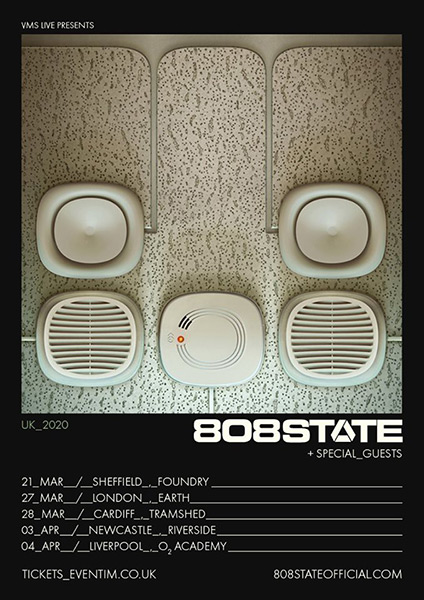 Flyer 808 State UK live tour 2020