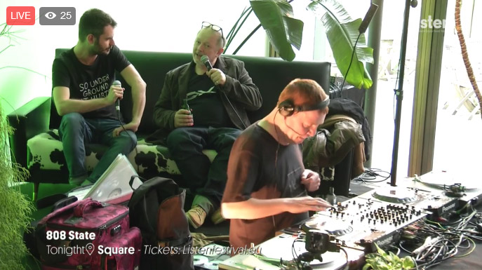 808 State interview and DJ set for Listen Festival Brussels 01 April 2017