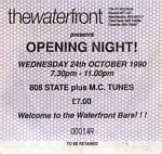 808 State and MC Tunes, The Waterfront, Norwich, 1990