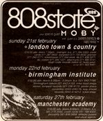 808 State / Moby, Town & Country Club, London, 1993