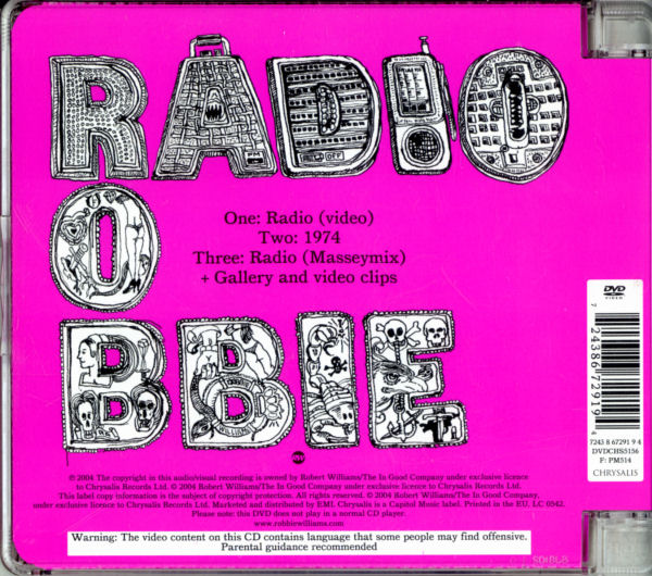 Robbie Williams - Radio - UK DVD Single - Back Cover