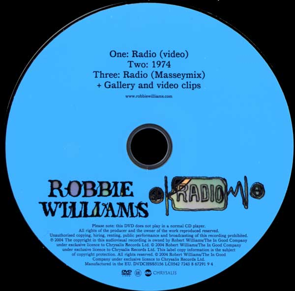 Robbie Williams - Radio - UK DVD Single - DVD