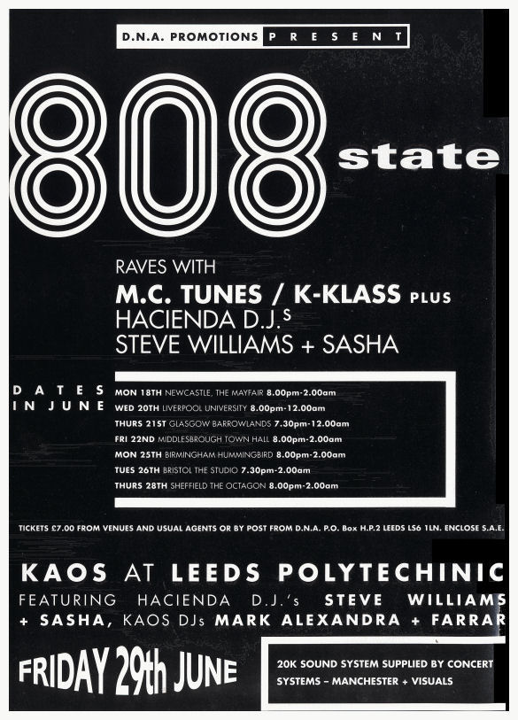 808 - June 1990 Tour - Flyer