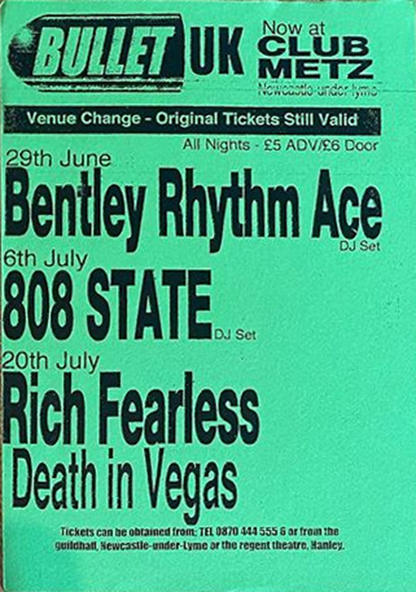 Fri 06:Jul:2002 - 808 DJs - Bullet UK - Club Metz - Newcastle-Under-Lyme