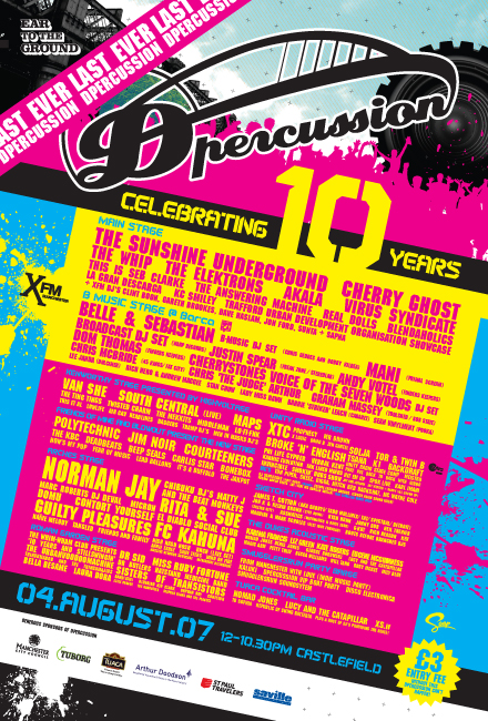 Dpercussion 10 flyer
