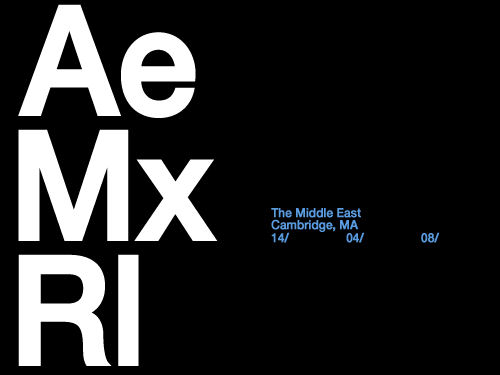 Mon:14:Apr:08 - Massonix (w. Autechre) - Middle East Downstairs - Cambridge - USA.