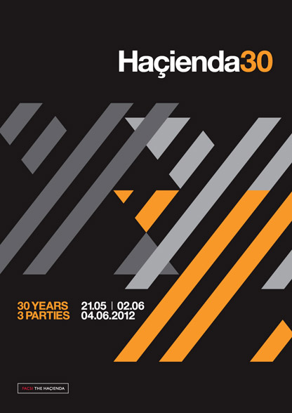 808 State DJs Hacienda 30 flyer 21 May 2012