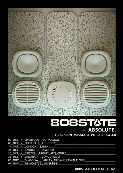 Flyer 808 State UK Tour 2020 new dates